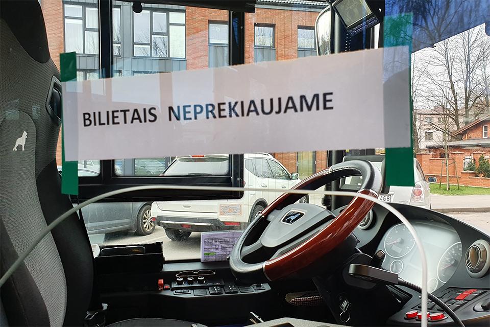 Autobusuose vėl nutraukė prekybą bilietais