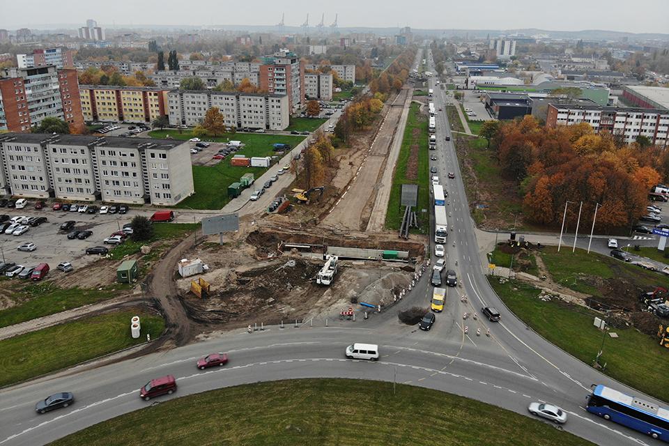 Eismo ribojimai prie pagrindinės Klaipėdos sankryžos – iki rudens