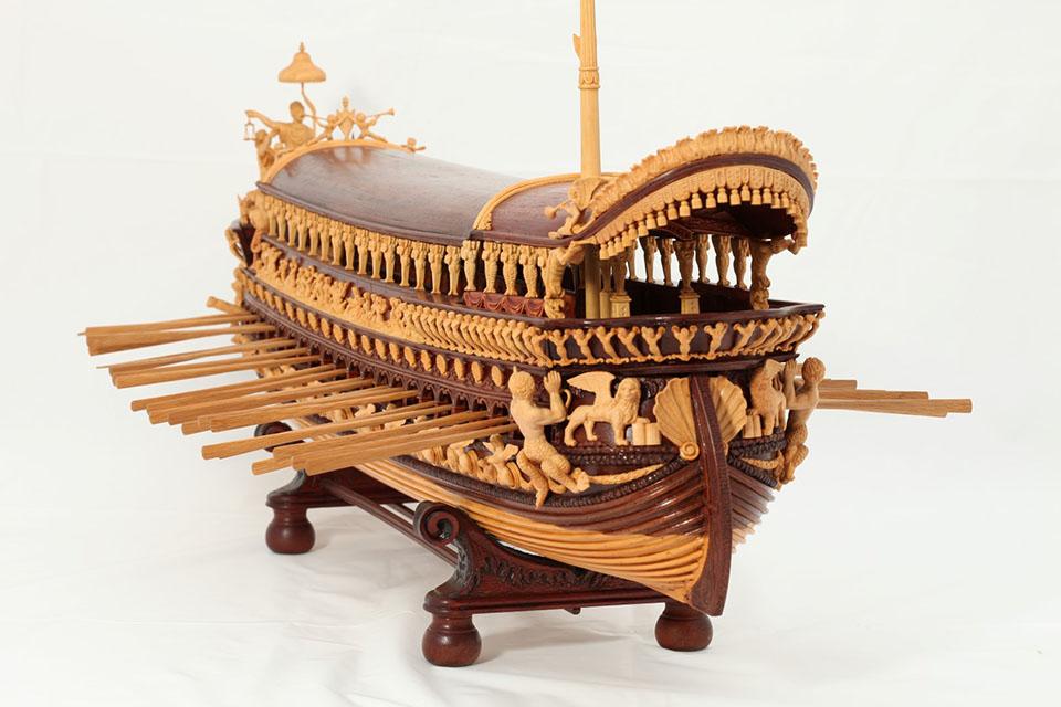 Bibliotekoje – paroda apie laivų modelius