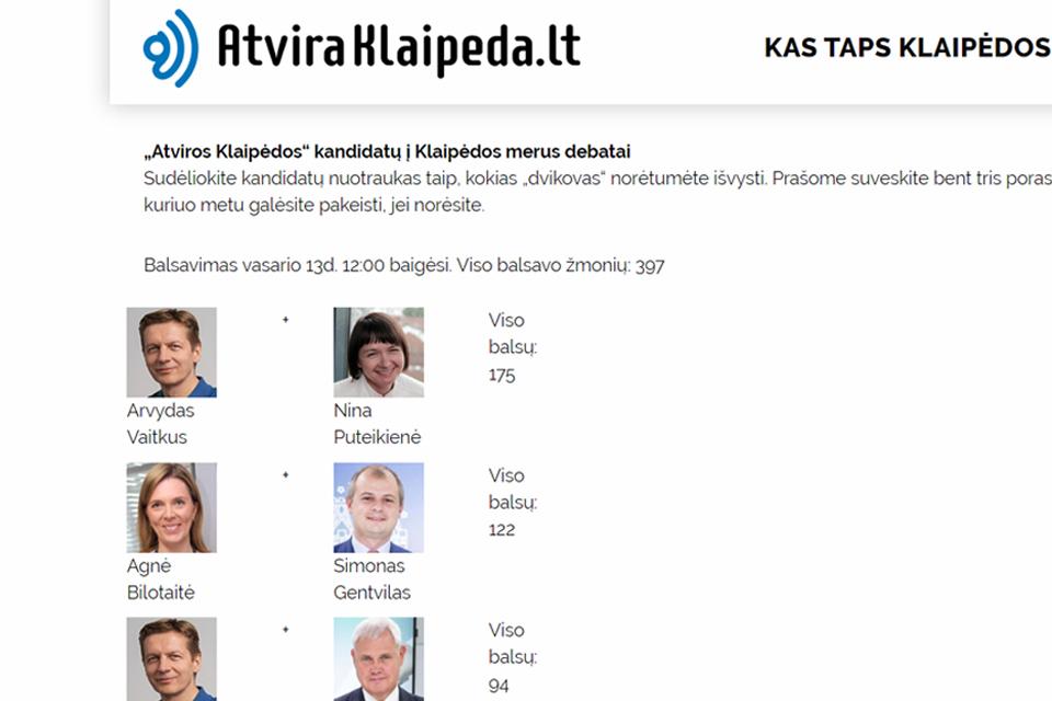 Debatų plaforma: paaiškėjo kandidatų poros