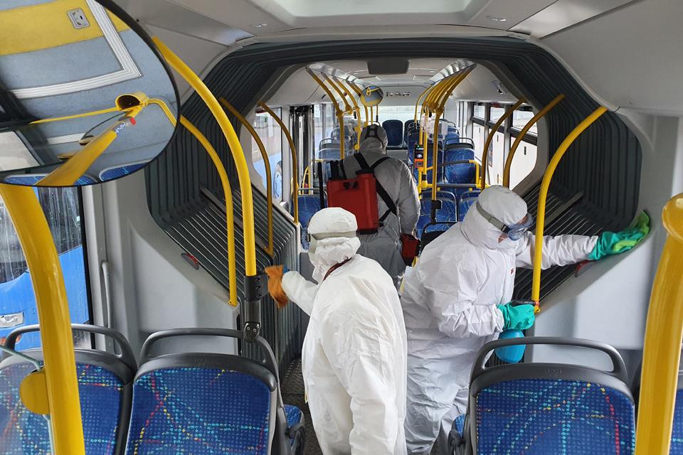 Koronavirusas Klaipėdoje: autobusų vairuotojai į dezinfekciją žiūrėjo pro pirštus