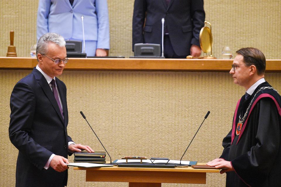 Prisiekė iš Klaipėdos kilęs šalies prezidentas