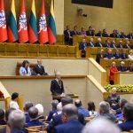 Prezidentūra toliau nurodinėja Seimui