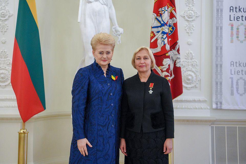 Olgai Žalienei – Riterio kryžius
