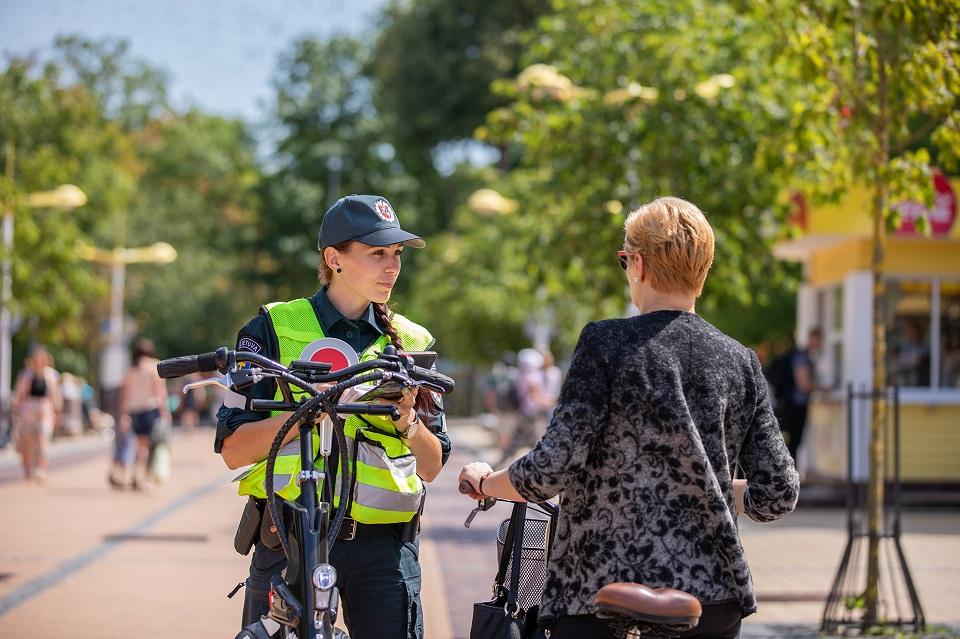 Palangoje –  dėmesys dviratininkams
