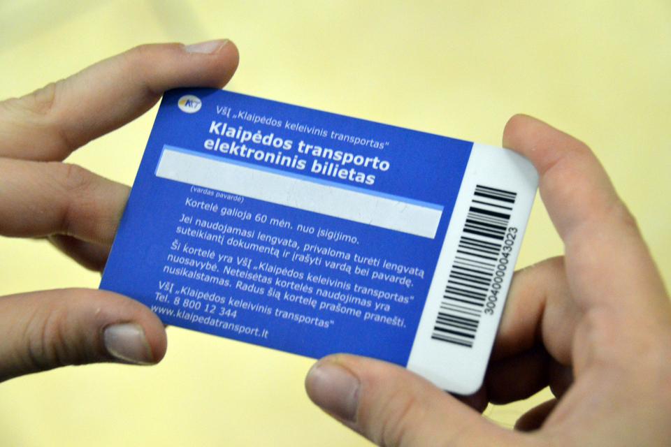 Autobusų bilietų kortelių deficitą likviduos