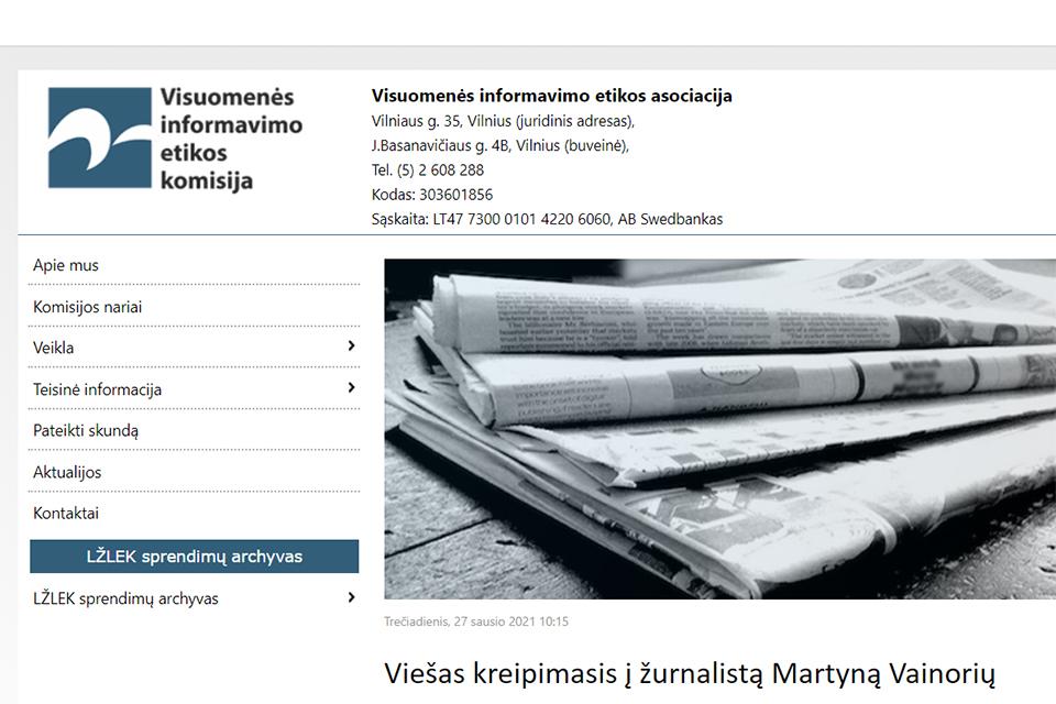 Viešas kreipimasis į žurnalistą Martyną Vainorių