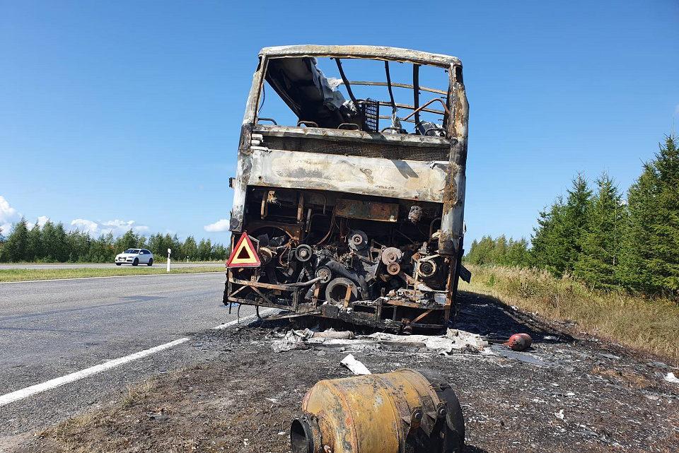 Sudegė autobusas