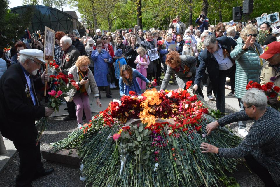 Rusakalbiai tradiciškai paminėjo gegužės 9-ąją