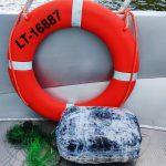 Пограничники вытащили из Немана мешок с 15,4 кг янтаря