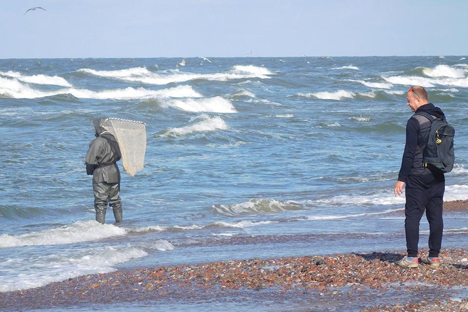 Į gintarą panašus akmenukas – Baltijos  jūroje slypinčio cheminio ginklo liekana?