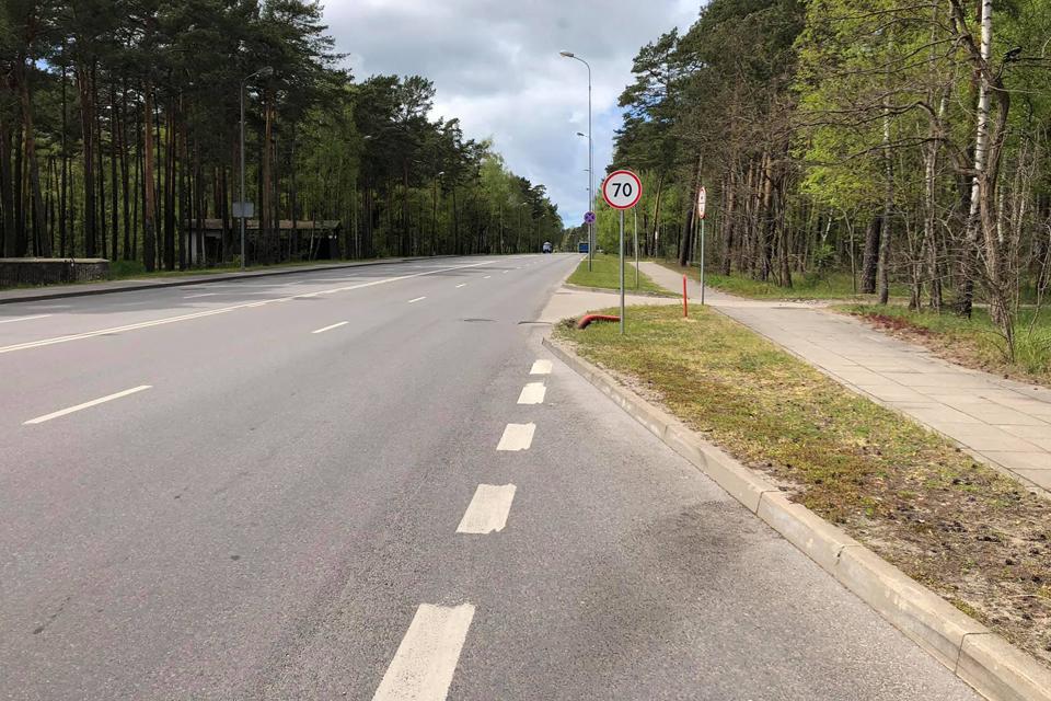 Trijose Klaipėdos gatvėse – leistinas 70 km/h greitis