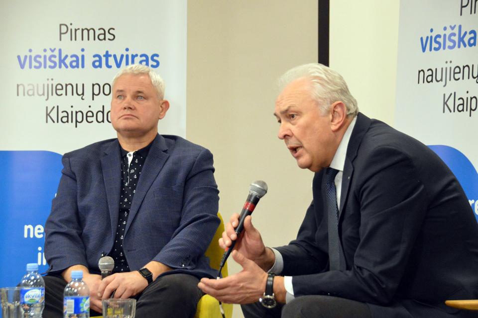 """""""Atviros Klaipėdos"""" debatai: Vytautas Grubliauskas ir Benediktas Petrauskas"""