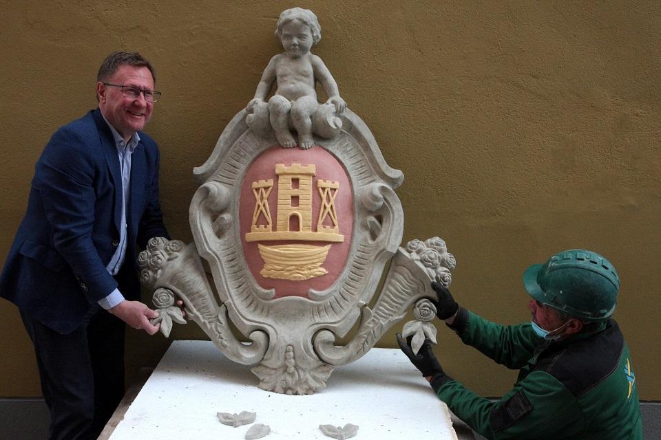 Restauratoriai atkūrė Klaipėdos herbą