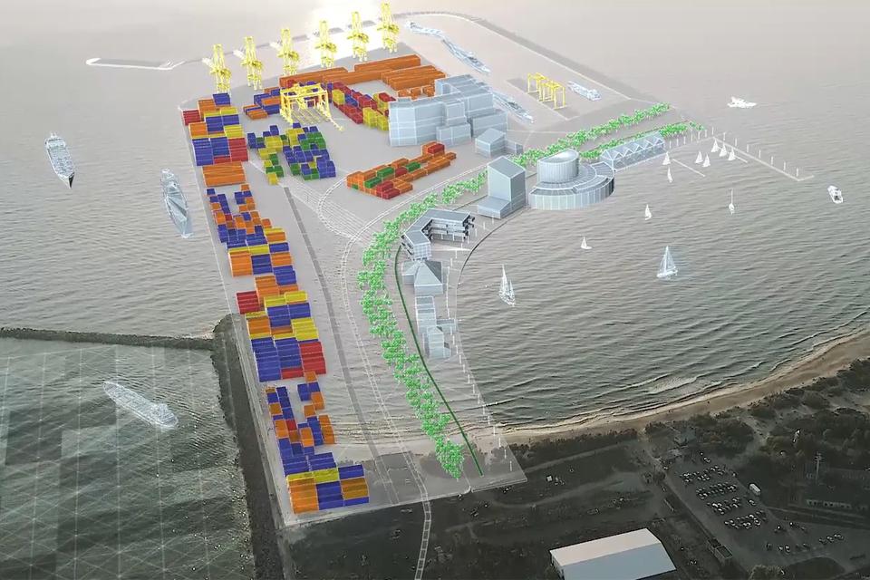 Ko miestas nori už išorinį uostą?