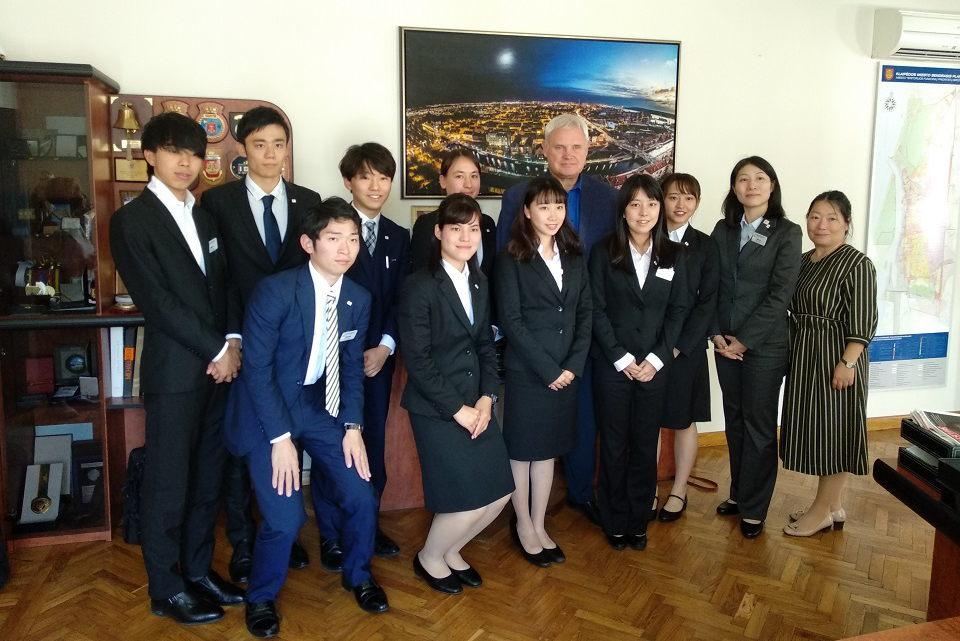 Japonijos jaunimo delegacija Klaipėdoje
