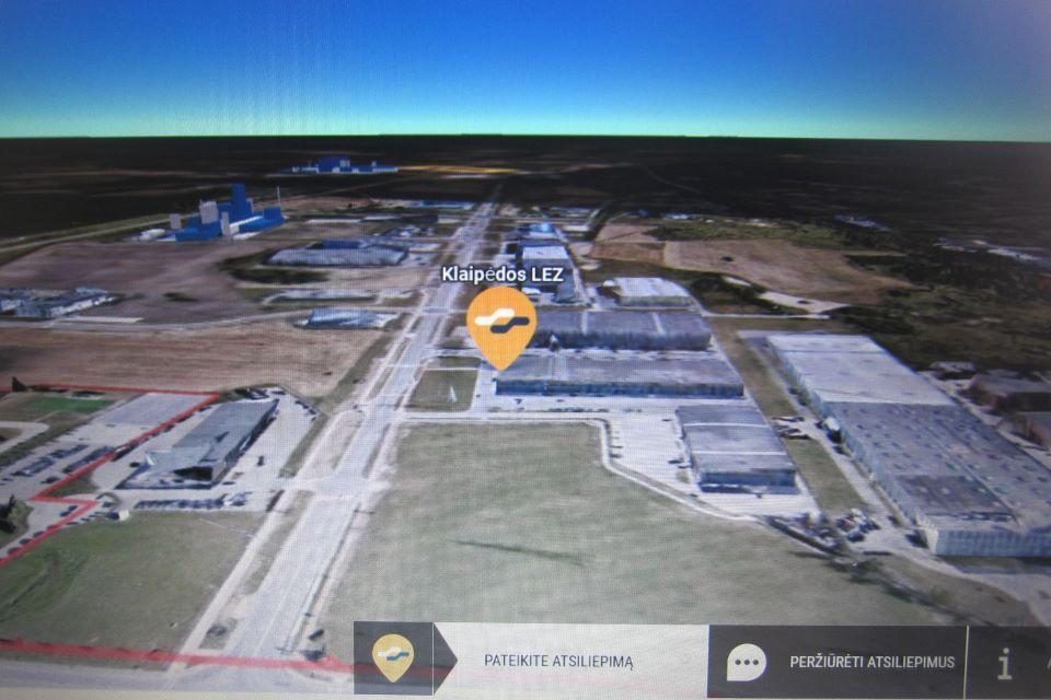 Klaipėdos LEZ pristato trimatį teritorijos modelį