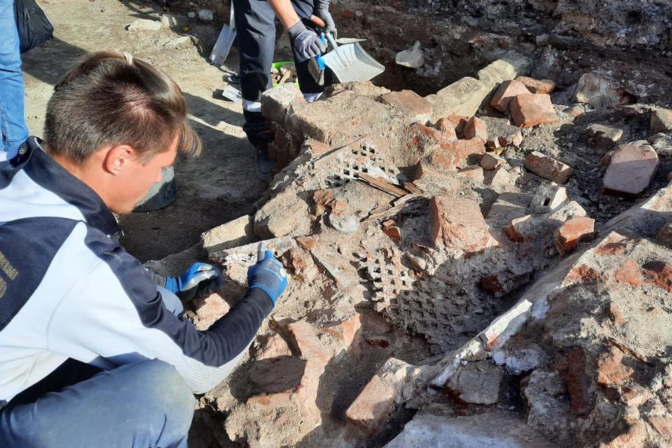 Archeologai aptiko šv. Jono bažnyčios šildymo sistemą