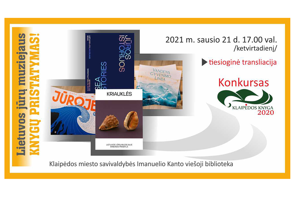 Kviečia į Lietuvos jūrų muziejaus išleistų knygų pristatymą