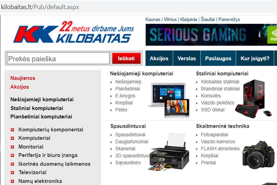 """Nutekinti """"Kilobaitas.lt"""" klientų duomenys"""