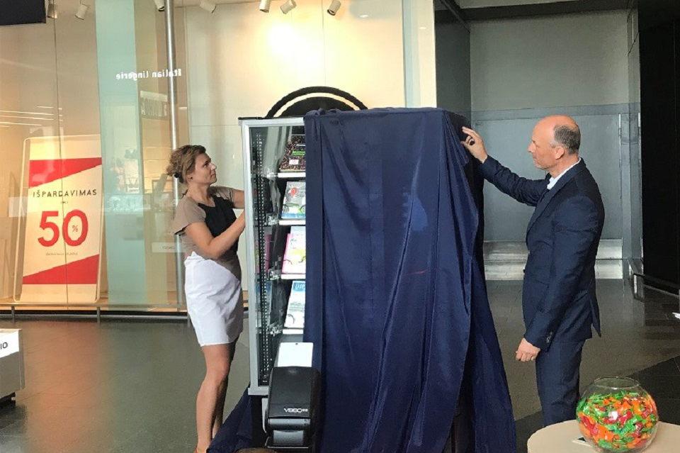 Klaipėdoje atidarytas pirmasis knygomatas šalyje
