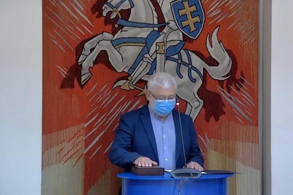 Klaipėdos miesto taryboje – dar viena priesaika