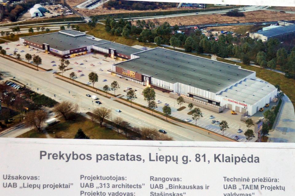 Pradėjo statyti didžiulį prekybos centrą