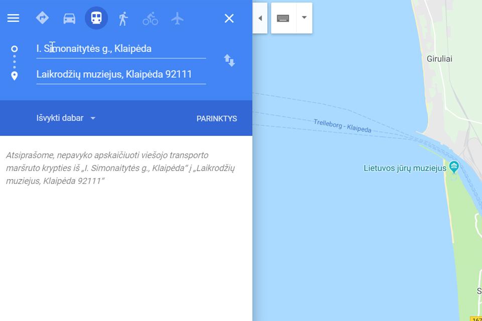 """Klaipėdos viešasis transportas: """"Google Maps"""" turėtų atsirasti šiemet"""