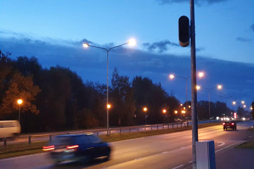 Liepojos gatvėje – naujas greičio matuoklis
