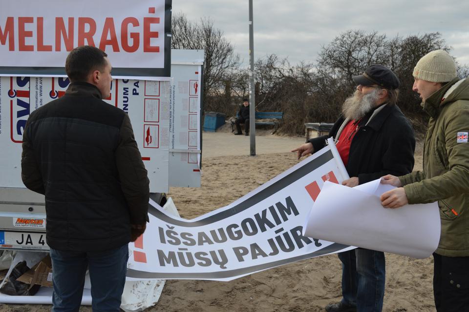 Melnragėje – tradicinė protesto akcija