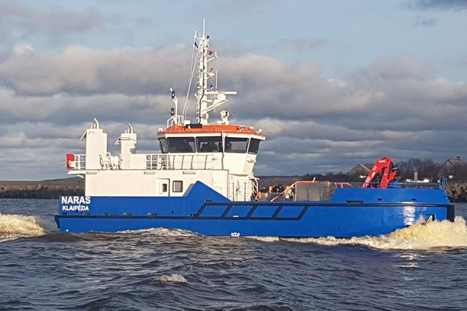 Parvyko naujasis Uosto direkcijos laivas