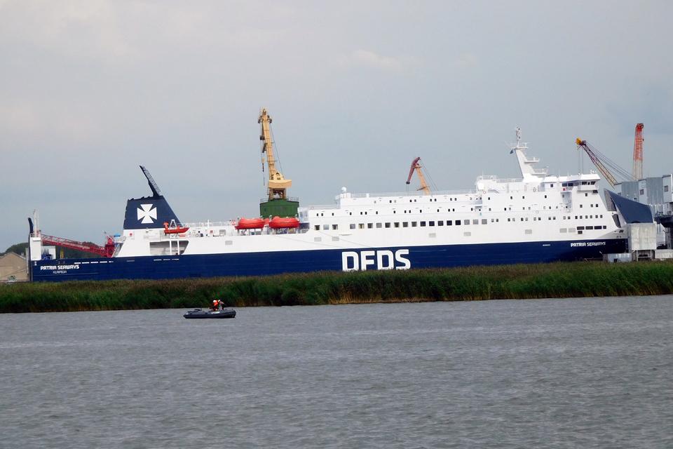 """Išplaukiant sugedo vienas """"Patria Seaways"""" variklis"""