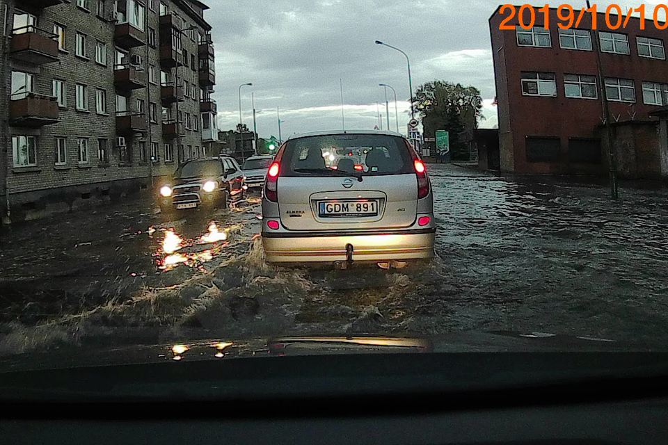 Potvynis Klaipėdoje atgaivino norą įvesti lietaus mokestį