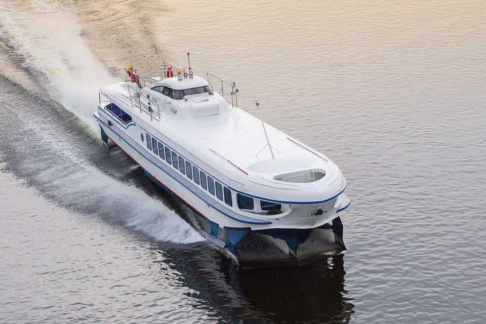 Laivu iš Klaipėdos į Nidą – per pusvalandį