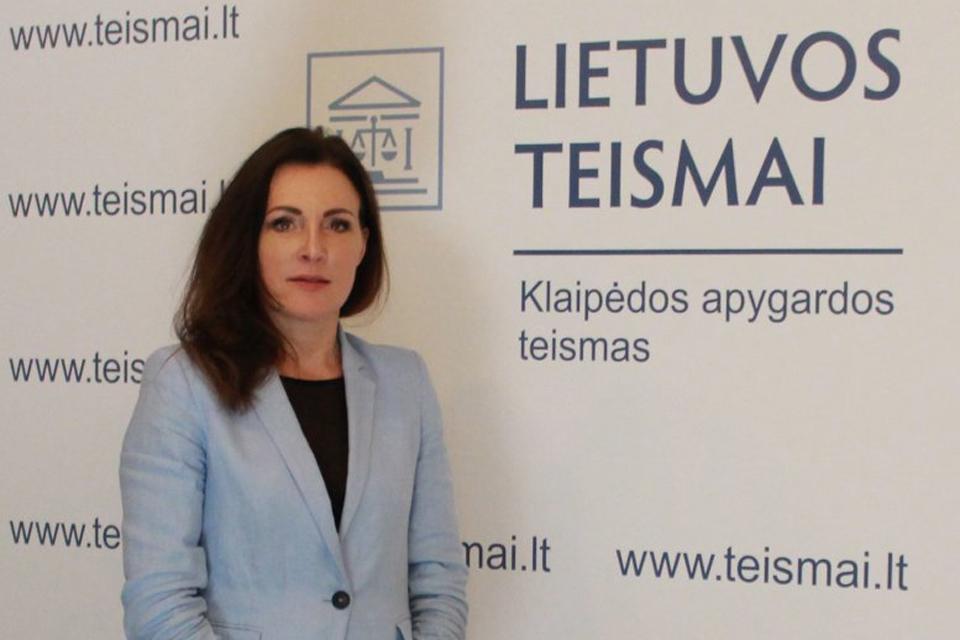 Klaipėdos apygardos teisme – nauja teisėja