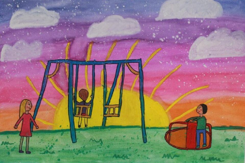 """Teismo vitrinoje – vaikų  darbų paroda """"Mano saugi vaikystė"""""""