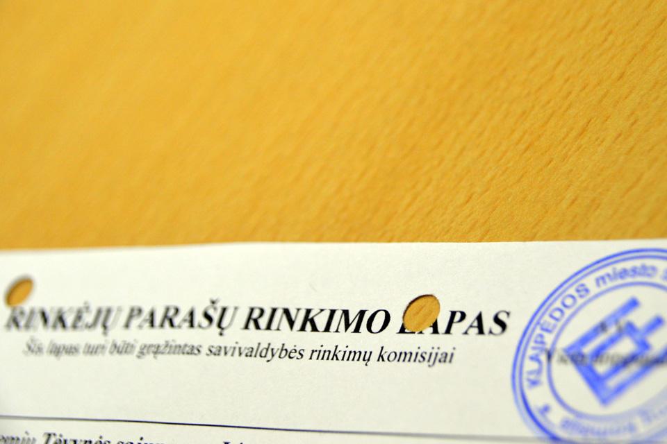 Rinkimai Klaipėdoje: parašus atnešė visi