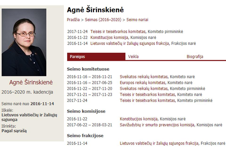 Nešaudykite į Agnę Širinskienę