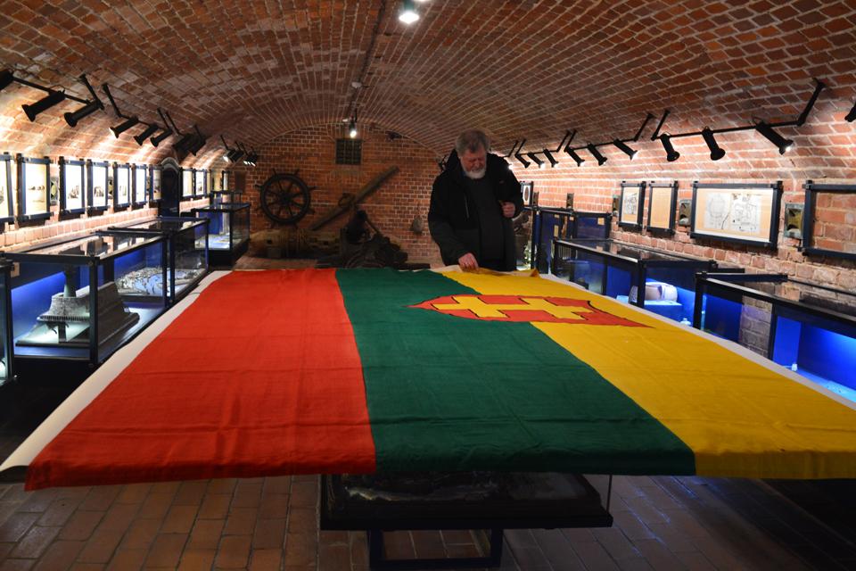 Jūrų muziejuje – unikali vėliava