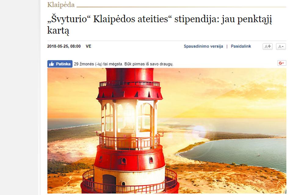 Dešimt klaipėdiečių pretenduoja į 4000 Eur stipendiją
