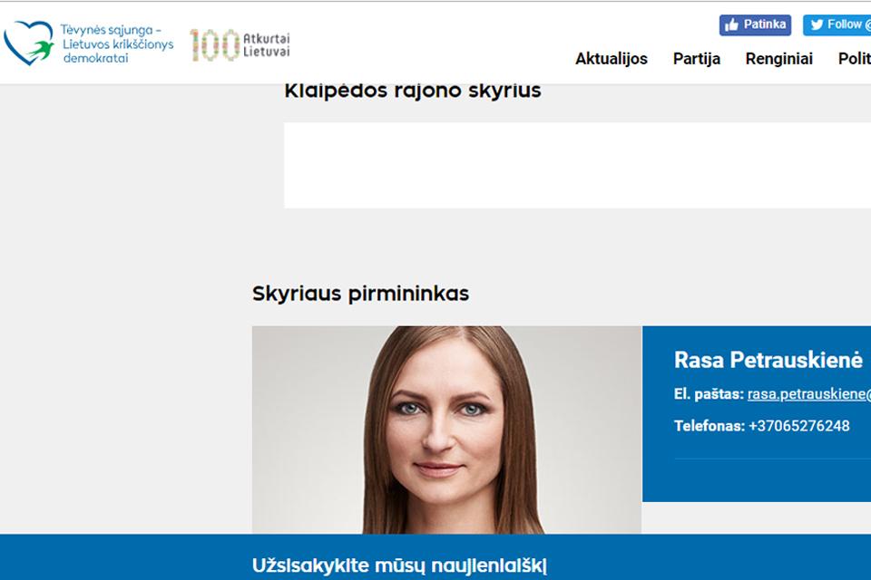 """Konservatorių pozicija dėl Klaipėdos rajono """"perversmo"""""""