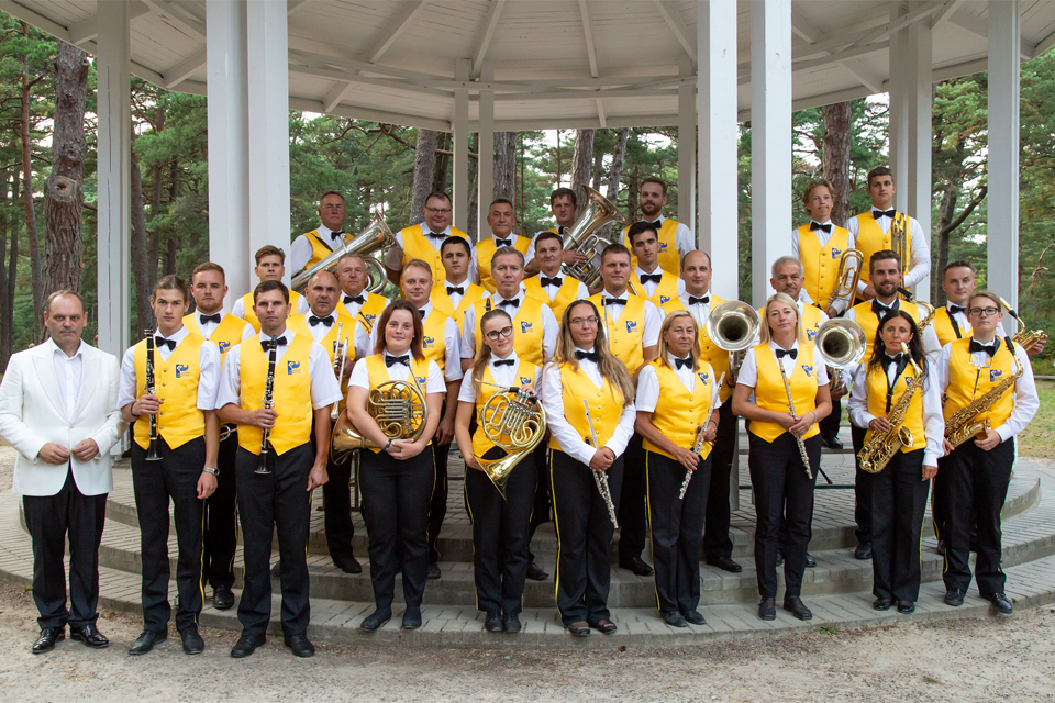 Palangos Birutės parke – pučiamųjų orkestro melodijos
