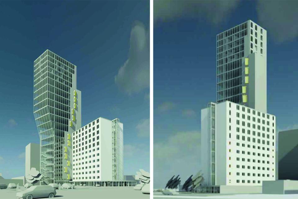 Prie viešbučio planuojamas 20 aukštų priestatas