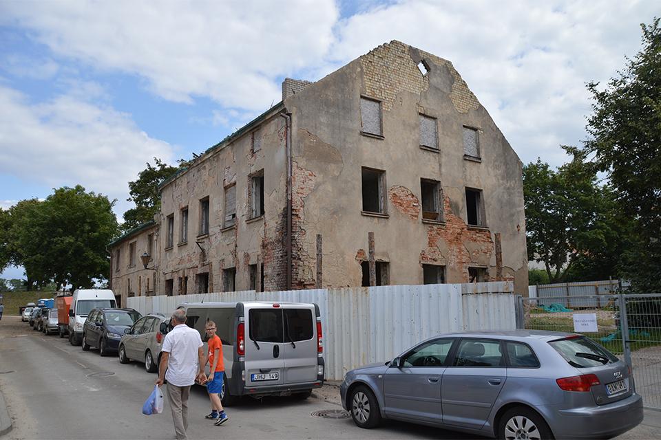 Už nugriautą senamiesčio pastatą – minimali bauda