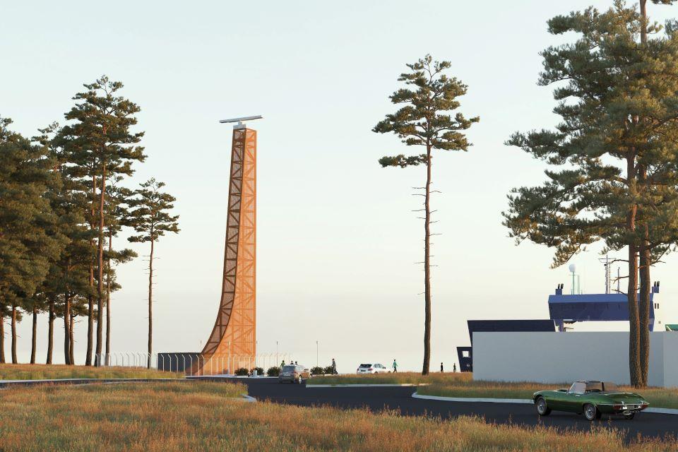 """Uosto radaro bokštas: nuo supustytos kopos, aliuzijos į bučių iki """"gyvo"""" statinio"""