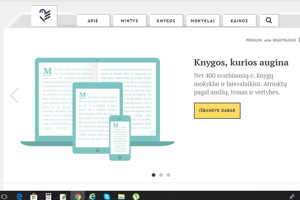 Elektronine biblioteka galima naudotis nemokamai