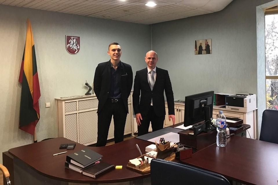 Diena su teisėju Klaipėdos teisme