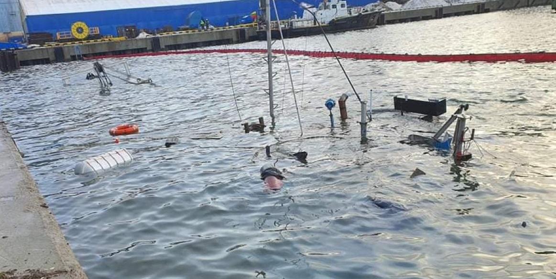 В Клайпедском порту затонуло судно